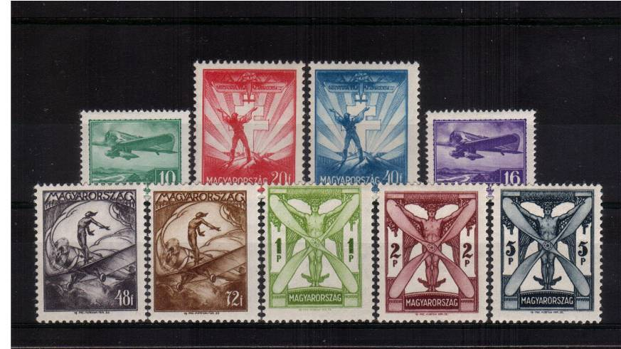 The 1933 AIR set of nine.<br/>