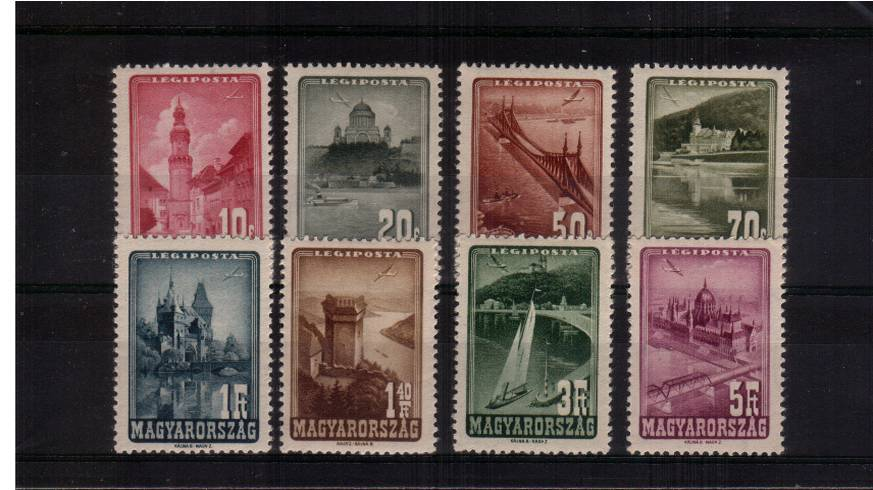 Views - AIR - set of eight superb unmounted mint