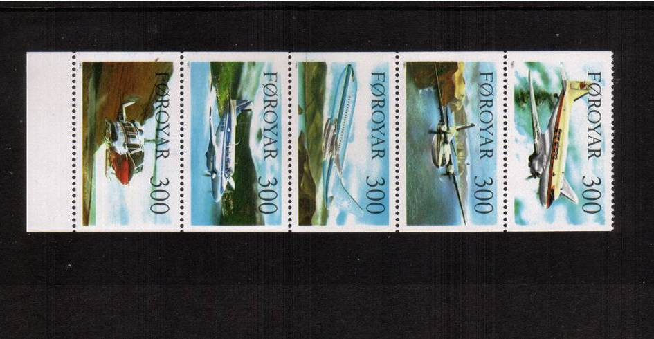 Aircraft booklet pane of five superb unmounted mint.
