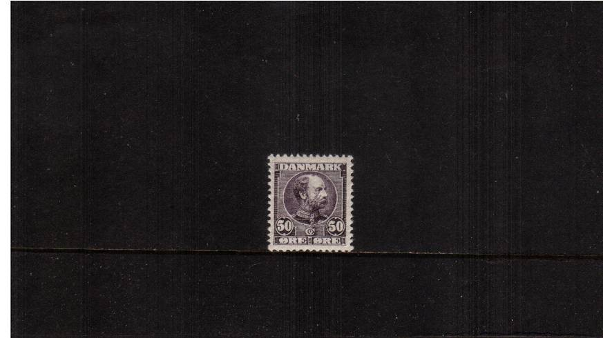 50or Indigo-Lilac King Christian IX - Background Horizontal lines