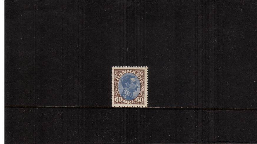 60or Ultramarine and Brown - King Christian X<br/>