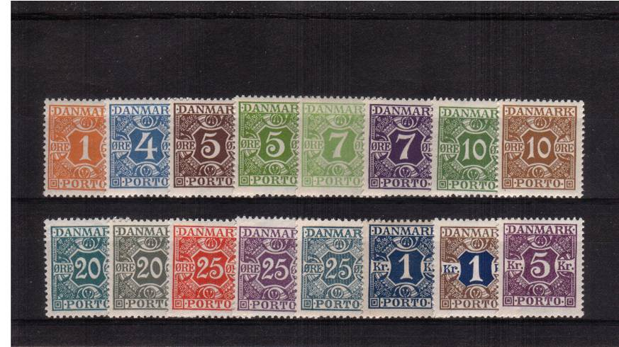 The Postage Due set of sixteen superb unmounted mint.<br/>Rare set unmounted!