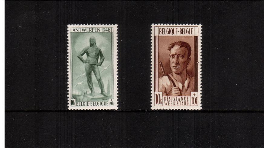 Antwerp and Liege Monuments Fund.<br/>A superb unmounted mint set of two. SG Cat �