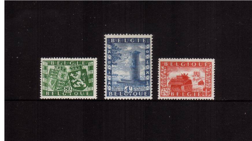 Anglo-Belgium Union and other Funds<br/>A superb unmounted mint set of three. SG Cat �