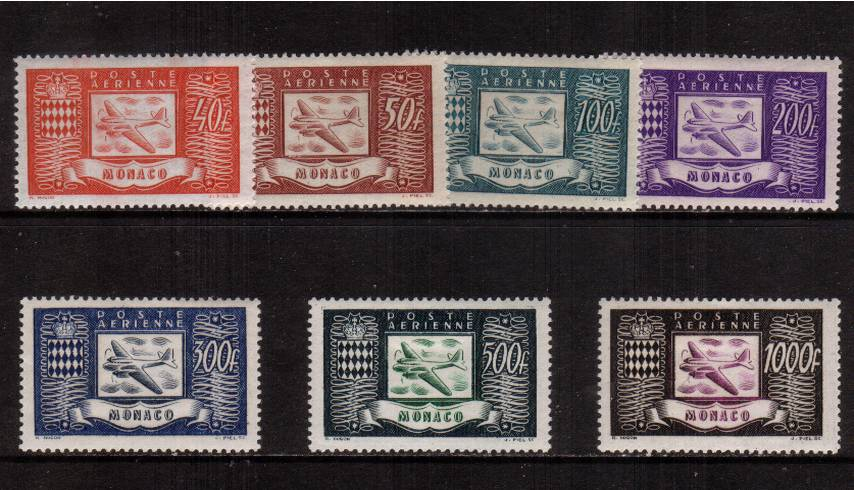 The AIRMAIL set of seven superb unmounted mint. SG Cat �5