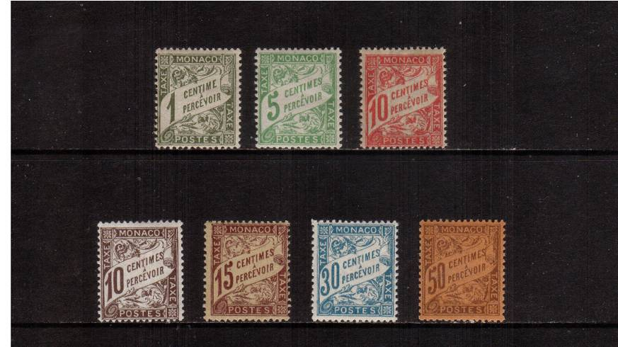 The POSTAGE DUE set of seven superb very, very lightly mounted mint. <br/>SG Cat for mounted �2