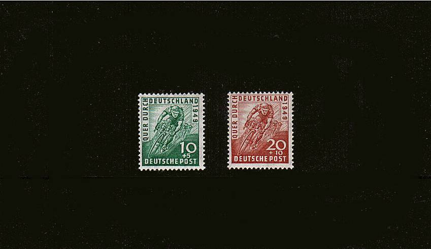 Trans-German Bicycle Race.<br/>