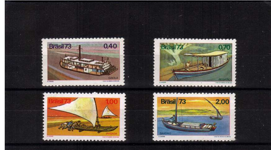 Brazilian Boats set of four superb unmounted mint . SG Cat �.00