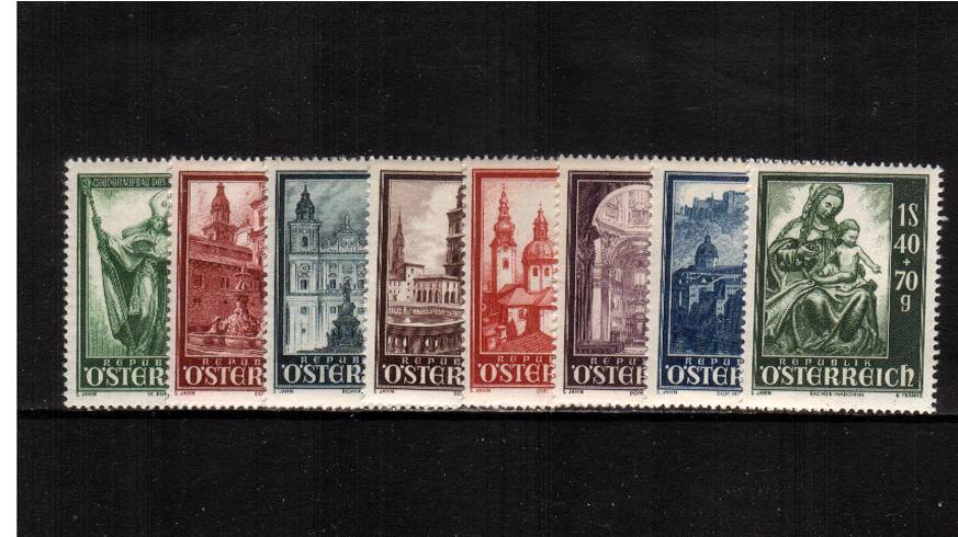 Salzburg Cathedral Reconstruction Fund.<br/>A superb unmounted mint set of eight.