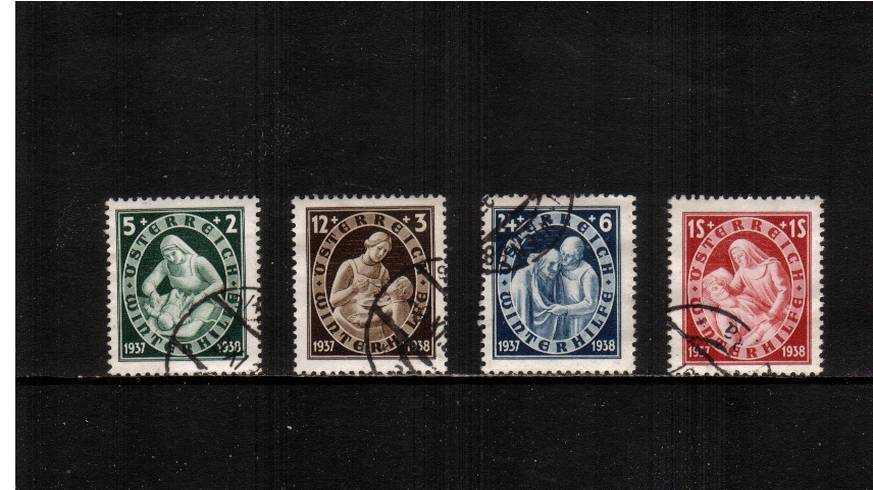 Winter Relief Fund.<br/>A superb fine used set of four