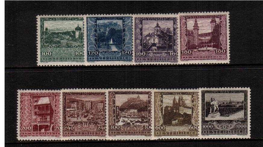 Artists' Charity Fund<br/>A superb unmounted mint set of nine.