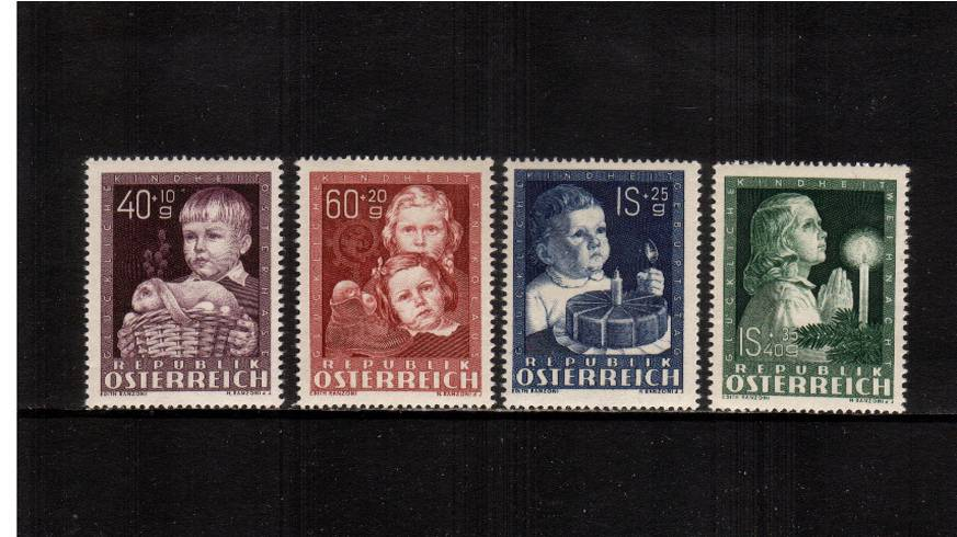 Child Welfare Fund<br/>A fine very lightly mounted mint set of four