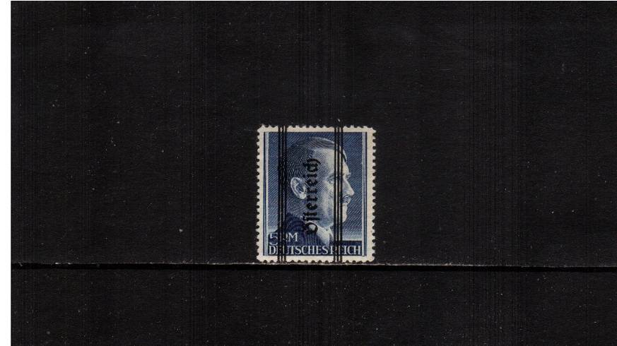 5RM Ultramarine overprinted ''Osterreich'' - 18絤m - Perforation 12�br/>A good lightly mounted mint single. SG Cat �0