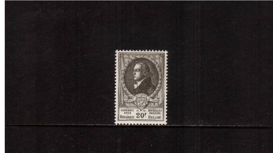 Universal Postal Union<br/>20f Olive-Grey<br/>
